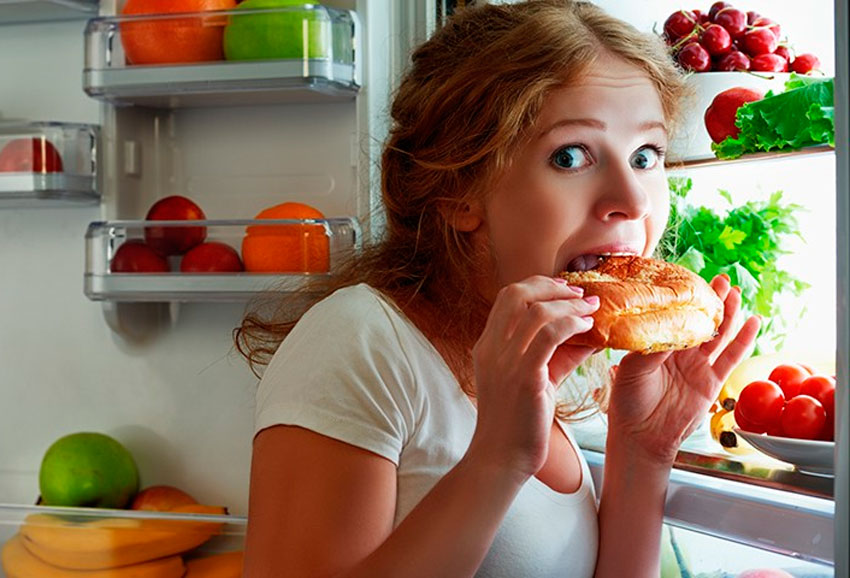 How to stop eating a lot